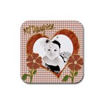 my daughter drink coaster template 4pk - Rubber Square Coaster (4 pack)