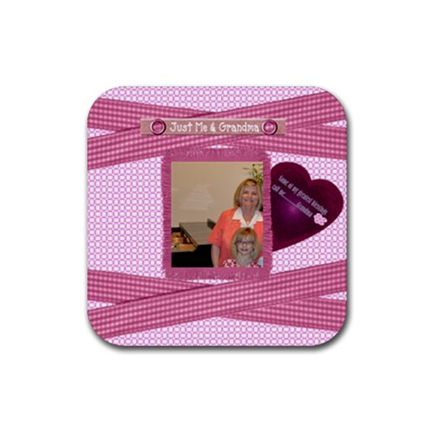 My Greatest Blessings Call Me Grandma Coaster By Danielle Christiansen   Rubber Square Coaster (4 Pack)   Cttwc0e1fpnk   Www Artscow Com Front