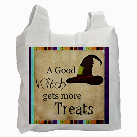 Trick Or Treat Bag 4 By Sheena   Recycle Bag (one Side)   71hpsy68kagt   Www Artscow Com Front