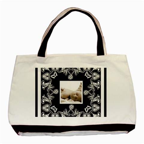Art Nouveau Black & White Classic Tote By Catvinnat   Basic Tote Bag   6t3piyibb04t   Www Artscow Com Front