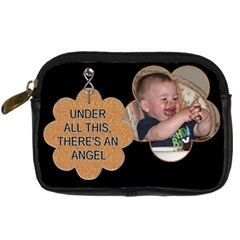 Cute Angel Camera Case By Lil    Digital Camera Leather Case   Pc7ksbgotlfs   Www Artscow Com Front