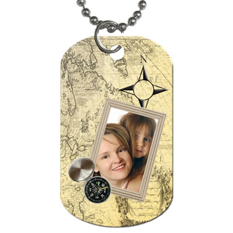 Travel By Wood Johnson   Dog Tag (one Side)   46i2vkoen2kd   Www Artscow Com Front