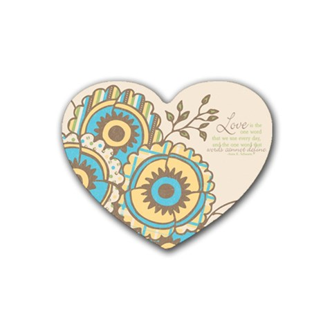 Heart Coaster  Love Word Art By Mikki   Rubber Coaster (heart)   Ey2a6bgicx17   Www Artscow Com Front