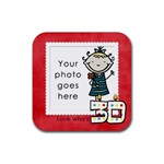 Look who s 30 coaster - Rubber Square Coaster (4 pack)