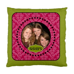 Pink & Green Damask Cushion By Klh   Standard Cushion Case (two Sides)   2i69e0u15f2a   Www Artscow Com Front