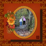 Autumn Hike - ScrapBook Page 12  x 12