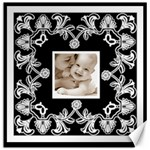 Art Nouveau Black & White 12 x 12 canvas - Canvas 12  x 12