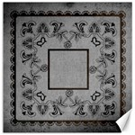 Art Nouveau classic black grey & brown  12 x 12 canvas - Canvas 12  x 12