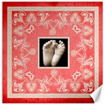 Red Art Nouveau tootsies  12 x 12 canvas - Canvas 12  x 12