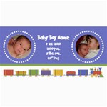 Baby Boy Train Birth Announcement - 4  x 8  Photo Cards