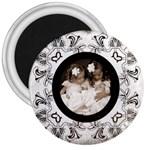 Art Nouveau oreo cookie 3 inch magnet - 3  Magnet