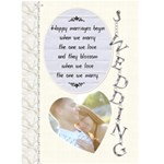 Wedding Card - Greeting Card 5  x 7
