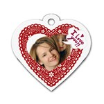 Heart of love - Dog Tag Heart (One Side)