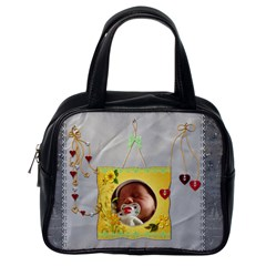 My Heart Strings Handbag By Lil    Classic Handbag (two Sides)   Jbnpqkzgntab   Www Artscow Com Back