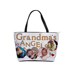 Grandma s Angels Hand Bag By Lil    Classic Shoulder Handbag   Ear2lgswhh9f   Www Artscow Com Front