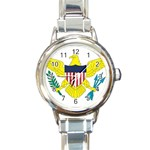 Flag_Virgin Islands, Us Round Italian Charm Watch