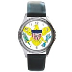 Flag_Virgin Islands, Us Round Metal Watch