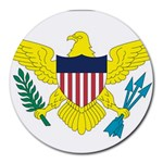 Flag_Virgin Islands, Us Round Mousepad