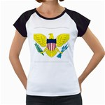 Flag_Virgin Islands, Us Women s Cap Sleeve T