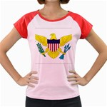 Flag_Virgin Islands, Us Women s Cap Sleeve T-Shirt