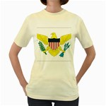 Flag_Virgin Islands, Us Women s Yellow T-Shirt