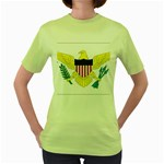 Flag_Virgin Islands, Us Women s Green T-Shirt