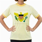 Flag_Virgin Islands, Us Women s Fitted Ringer T-Shirt