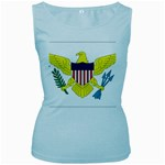 Flag_Virgin Islands, Us Women s Baby Blue Tank Top