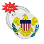 Flag_Virgin Islands, Us 2.25  Button (10 pack)