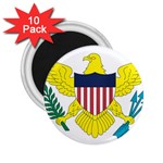 Flag_Virgin Islands, Us 2.25  Magnet (10 pack)