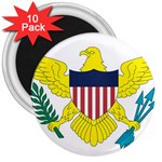 Flag_Virgin Islands, Us 3  Magnet (10 pack)