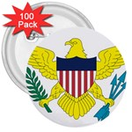 Flag_Virgin Islands, Us 3  Button (100 pack)