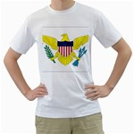 Flag_Virgin Islands, Us White T-Shirt
