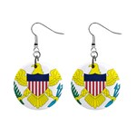 Flag_Virgin Islands, Us 1  Button Earrings