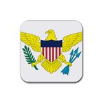 Flag_Virgin Islands, Us Rubber Square Coaster (4 pack)