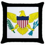 Flag_Virgin Islands, Us Throw Pillow Case (Black)
