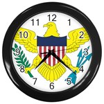 Flag_Virgin Islands, Us Wall Clock (Black)