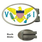 Flag_Virgin Islands, Us Money Clip (Oval)