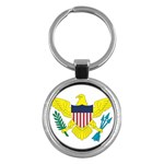 Flag_Virgin Islands, Us Key Chain (Round)