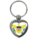 Flag_Virgin Islands, Us Key Chain (Heart)
