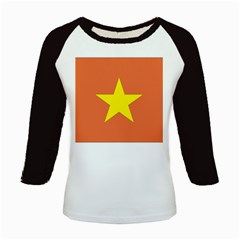 Flag_Vietnam Kids Baseball Jersey by worldflags4u