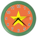 Flag_Vietnam Color Wall Clock