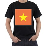 Flag_Vietnam Black T-Shirt
