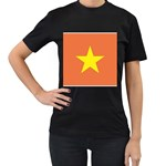Flag_Vietnam Women s Black T-Shirt