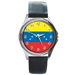 Flag_Venezuela2 Round Metal Watch