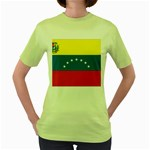 Flag_Venezuela2 Women s Green T-Shirt