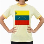 Flag_Venezuela2 Women s Fitted Ringer T-Shirt