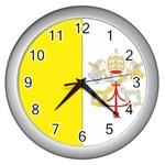 Flag_Vatican Wall Clock (Silver)