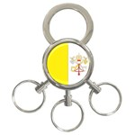 Flag_Vatican 3-Ring Key Chain
