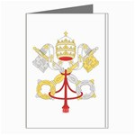 Flag_Vatican Greeting Card